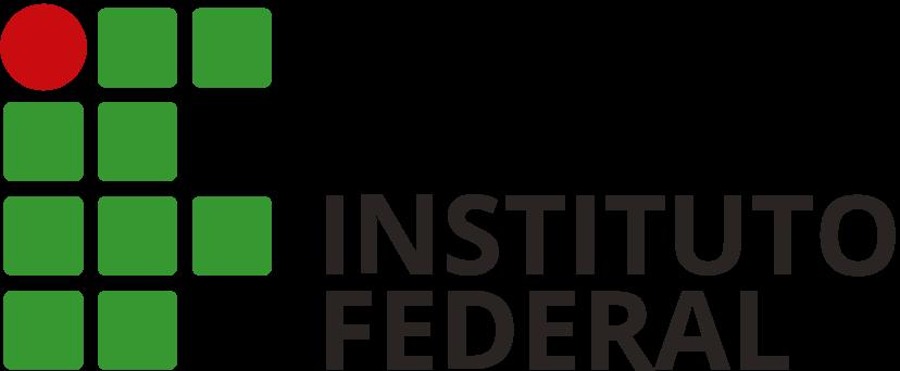 Logotipo do Instituto Federal em aplicação horizontal
